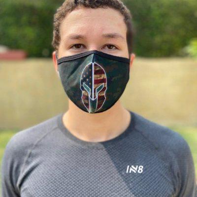 Spartan Green face mask