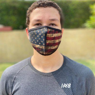 Retro USA flag face mask