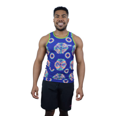 IN8 Blue Patterned Tank Top | IN8 Active