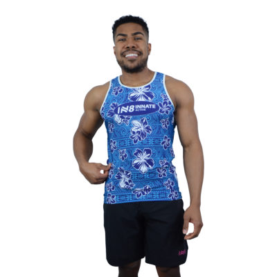 IN8 Blue Floral Tank Top | IN8 Active