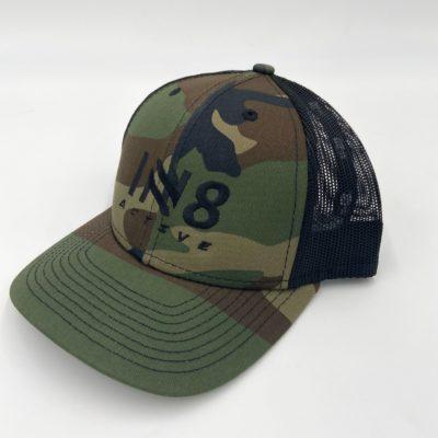IN8 Dark Green Camo Snapback Cap | IN8 Active