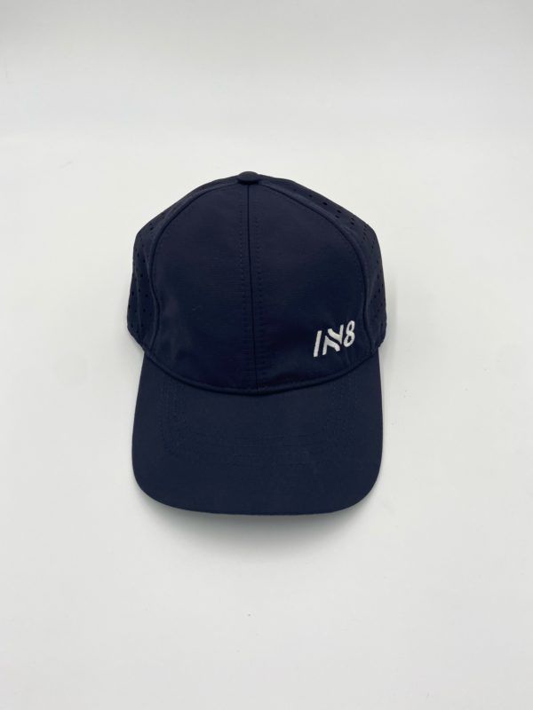 Lite Series Navy Perforated Running Cap   IN8 Active