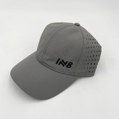 Lite Series Graphite Perforated Running Cap | IN8 Active