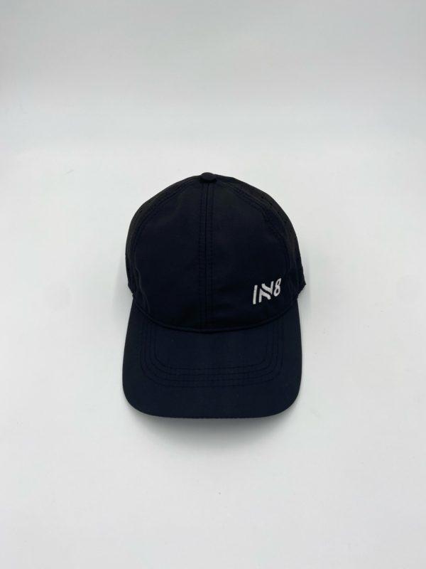 Lite Series Black Perforated Running Cap | IN8 Active